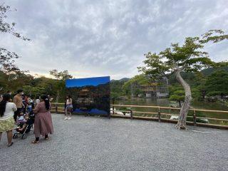 金閣寺の撮影ポイントに「大型写真パネル」が!修繕中だけのレアな光景がかえって記念になりそう